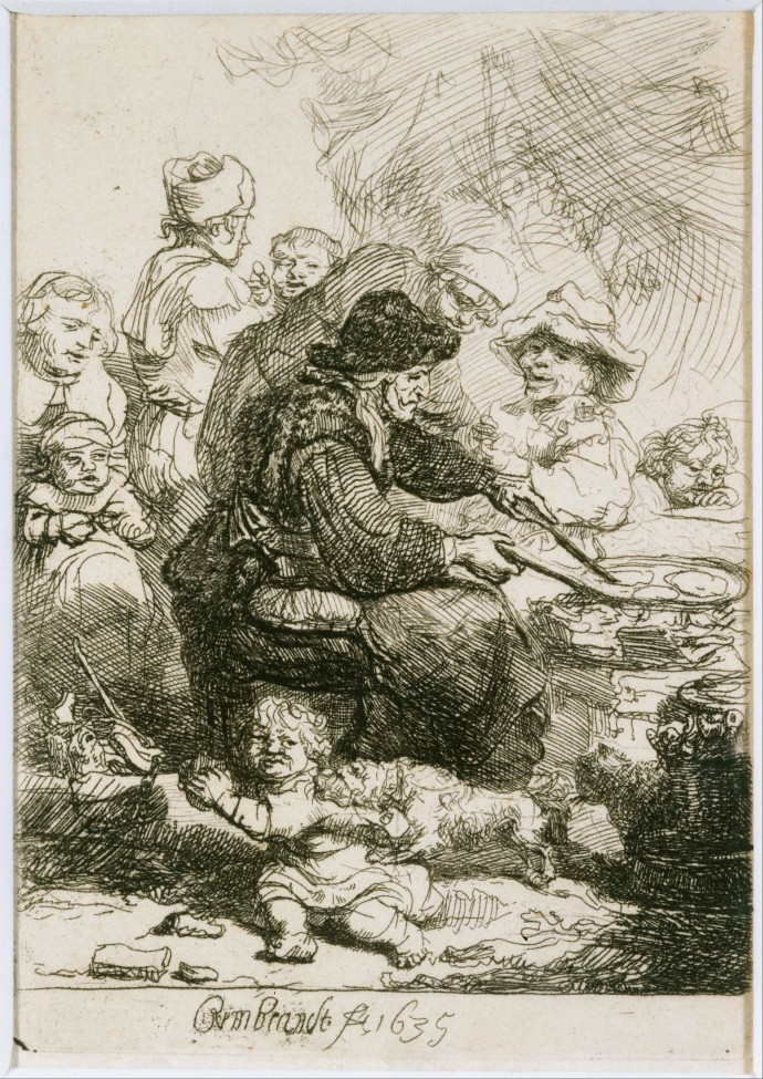 The Pancake Woman_Rembrant(1606-1669)_1635