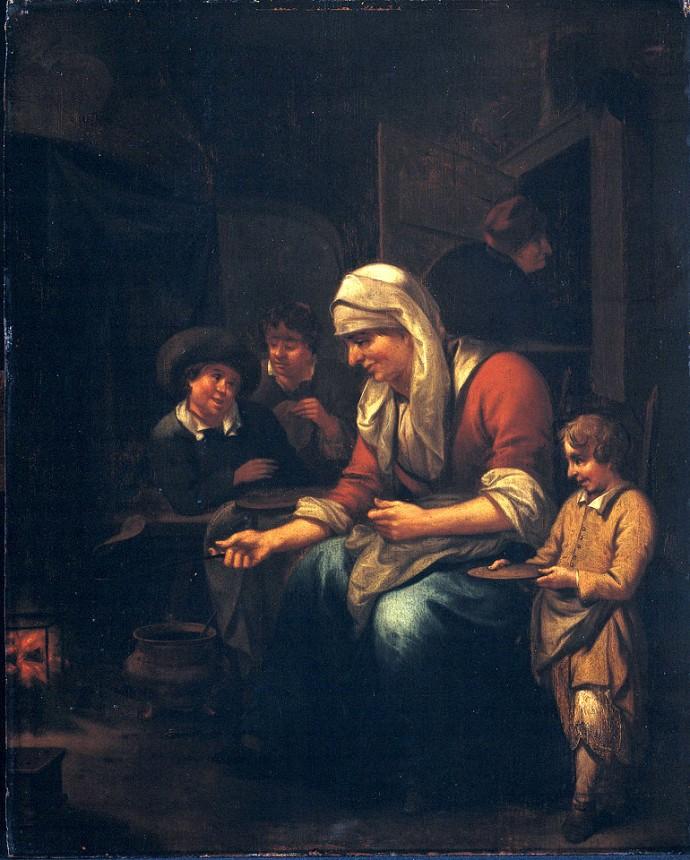 Woman Making Pancakes_Bernardus van Schijndel (1647–1709)_