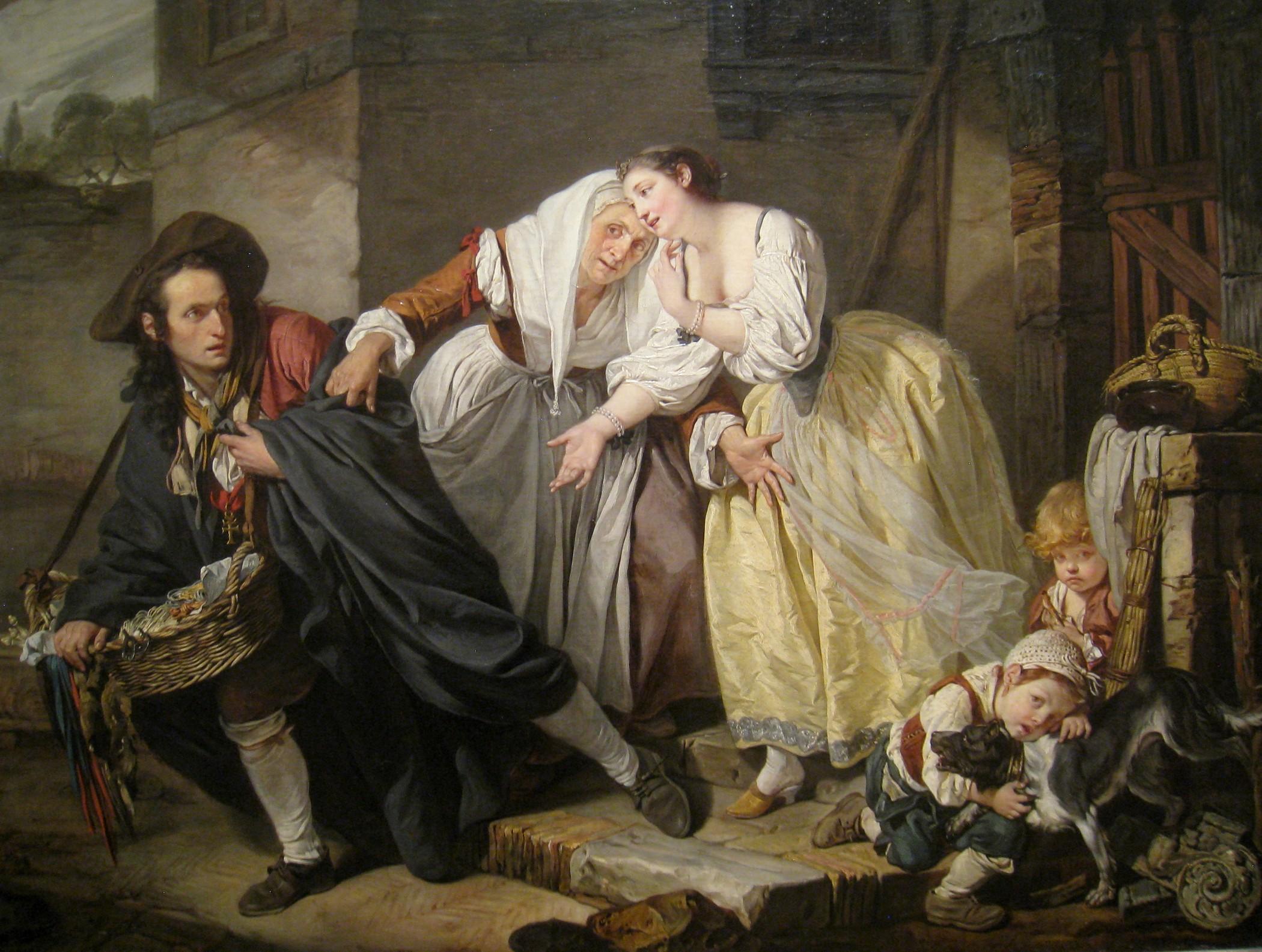 La Geste Napolitain By Jean Baptiste Greuze 1757 The