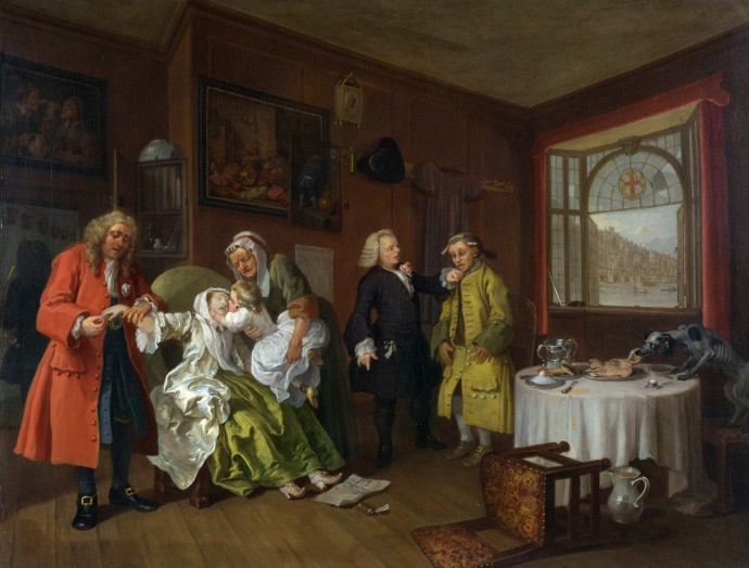 Marriage A la Mode 6 - The Lady's Death_William Hogarth_1743