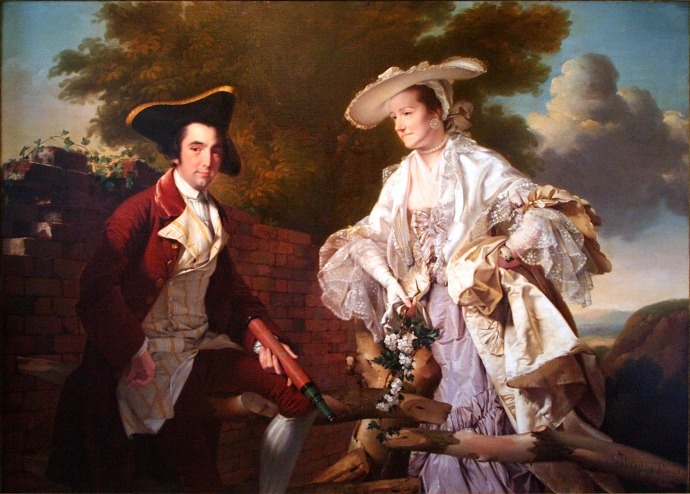 Peter Perez Burdett and his First Wife Hannah_Joseph Wright of Derby(1734-1797)_1765