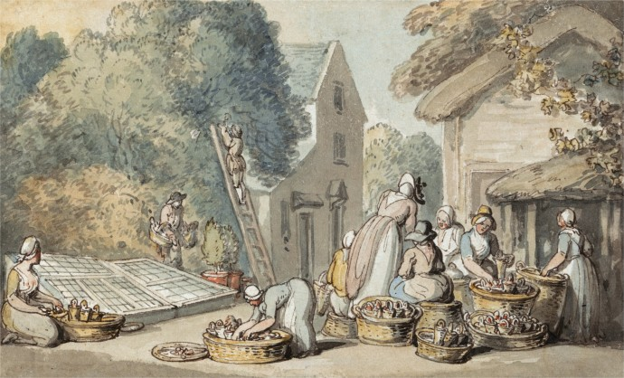 Picking Mulberries_Thomas Rowlandson(1756-1827)_undated