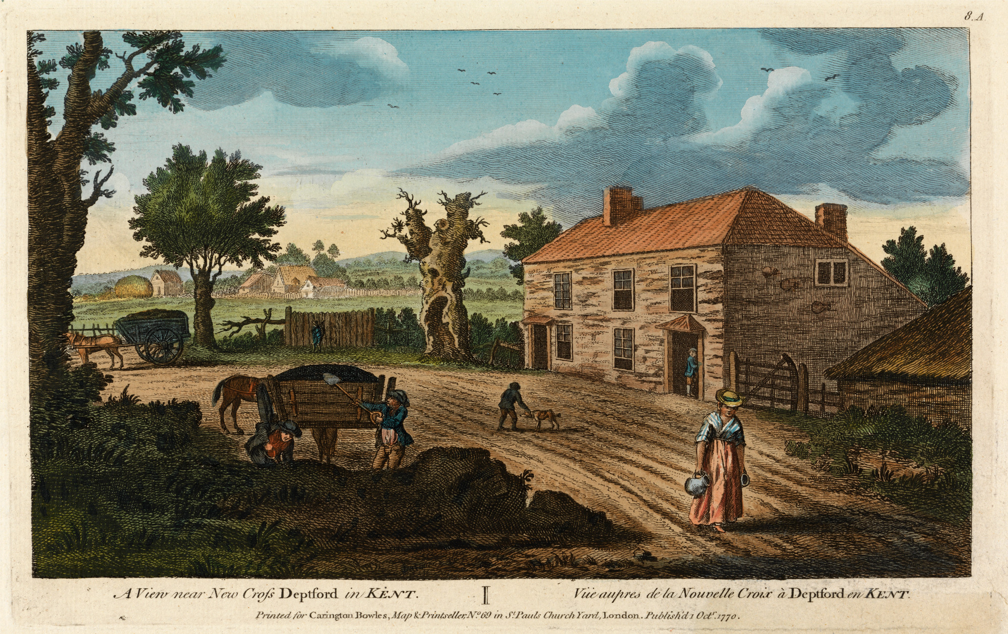 A View Near New Cross Deptford in Kent 1770 - The Townsends Blog