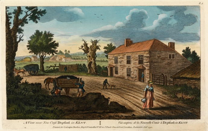A View Near New Cross Deptford in Kent 1770