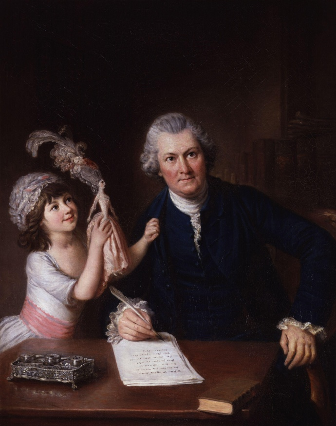 Christopher Anstey with his daughter by William Hoare(1707-1792) 1778