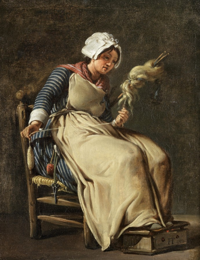 Siftingthepast_A Kitchen Maid_Hugues Taraval(1729-1785)_1783