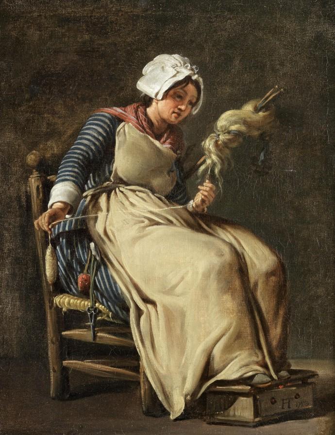 Siftingthepast_A Kitchen Maid_Hugues Taraval(1729-1785)_1783
