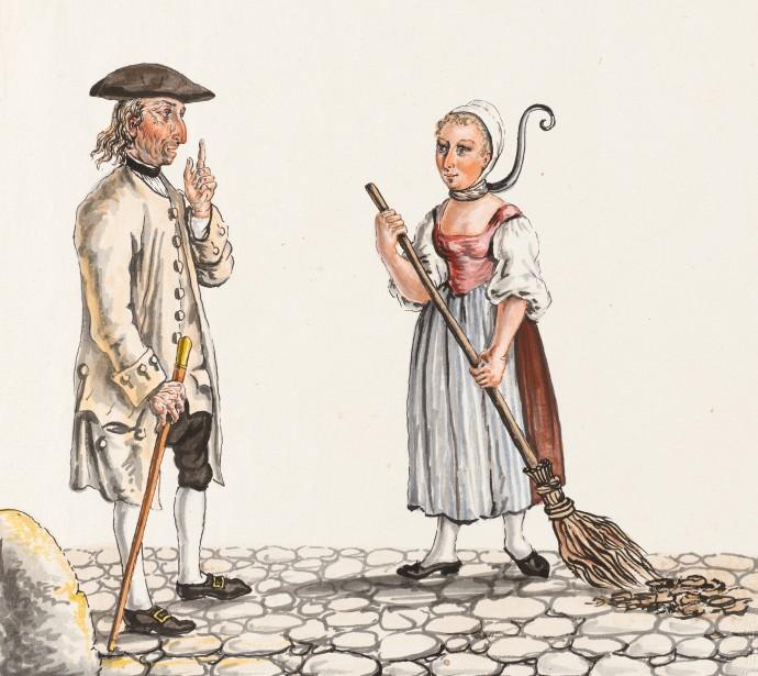 siftingthepast_Jailer and Manure sweeper - Collection Gugelmann _Franz Feyerabend(1755-1800)
