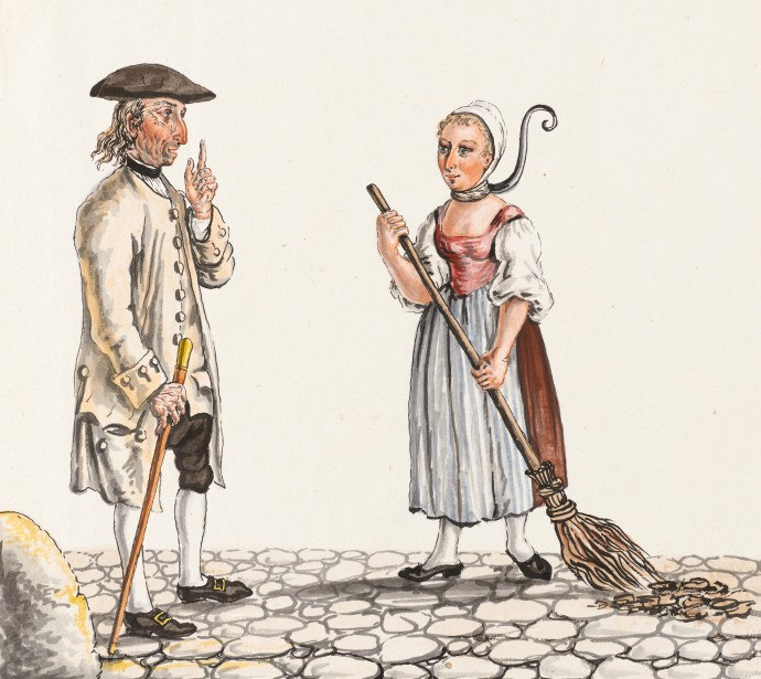 siftingthepast_Jailer and Manure sweeper - Collection Gugelmann _Franz Feyerabend(1755-1800)