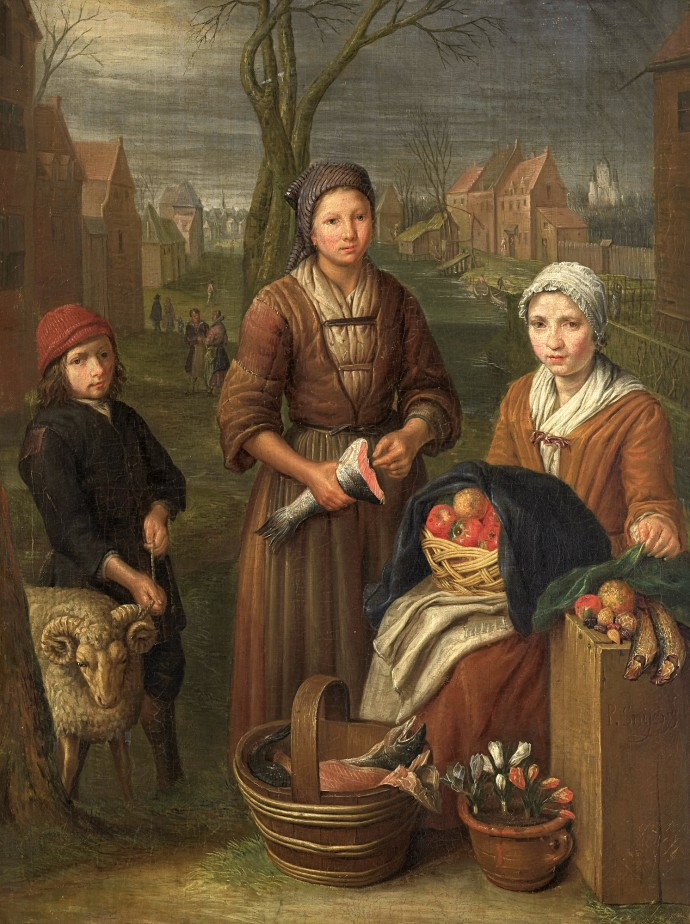 The Tradeswoman_Peter Snijers(1681-1752)_