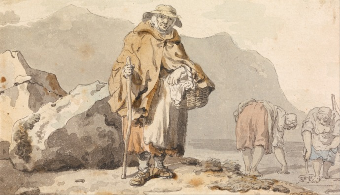 An Old Fisherwoman with Two Women Digging for Bait_Francis Wheatley(1747-1801)_