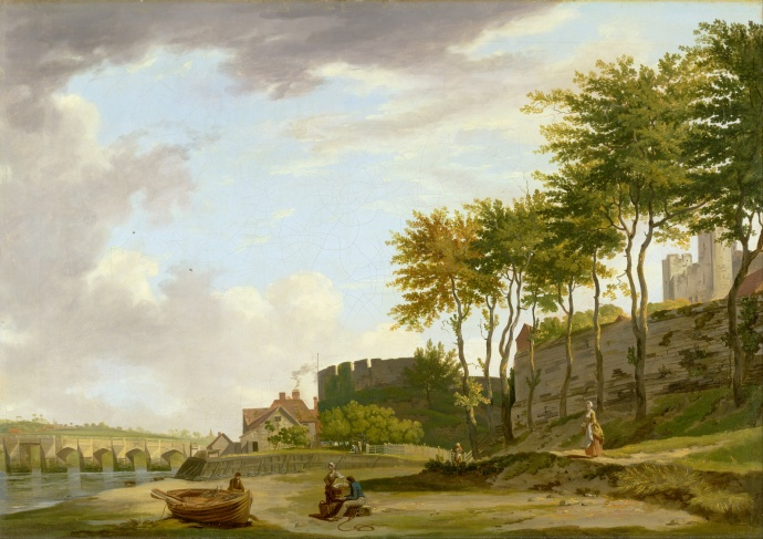 The Medway at Rochester_Francis Wheatley(1747-1801)_1776