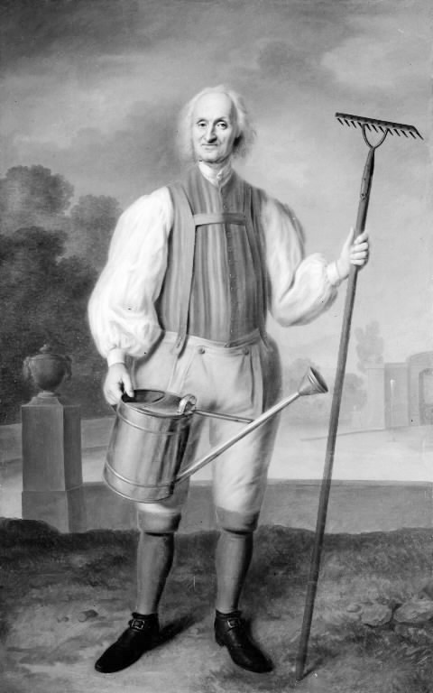 A Gardener by Balthasar Denner(1685-1749) in 1735