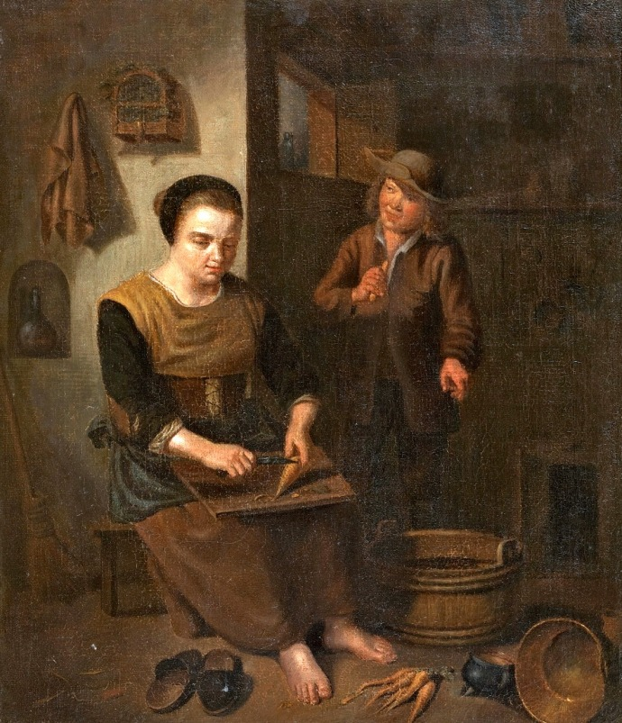 Kitchen Interior with Woman and Boy_Att-Peter_Snyers(1681-1752)