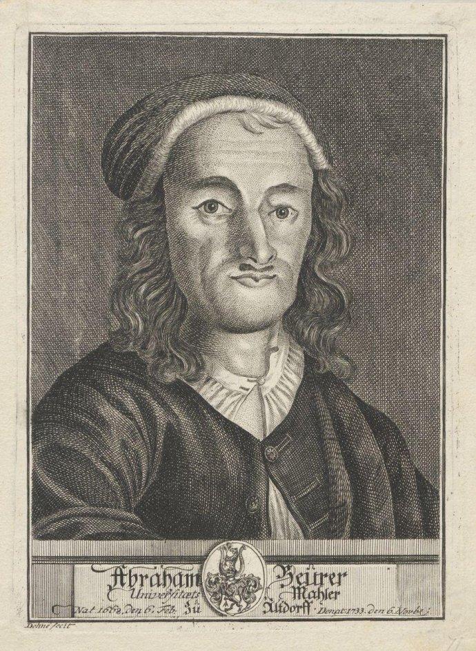 Portrait of Abraham Beurer_Johan Christoph Dehne_~1740