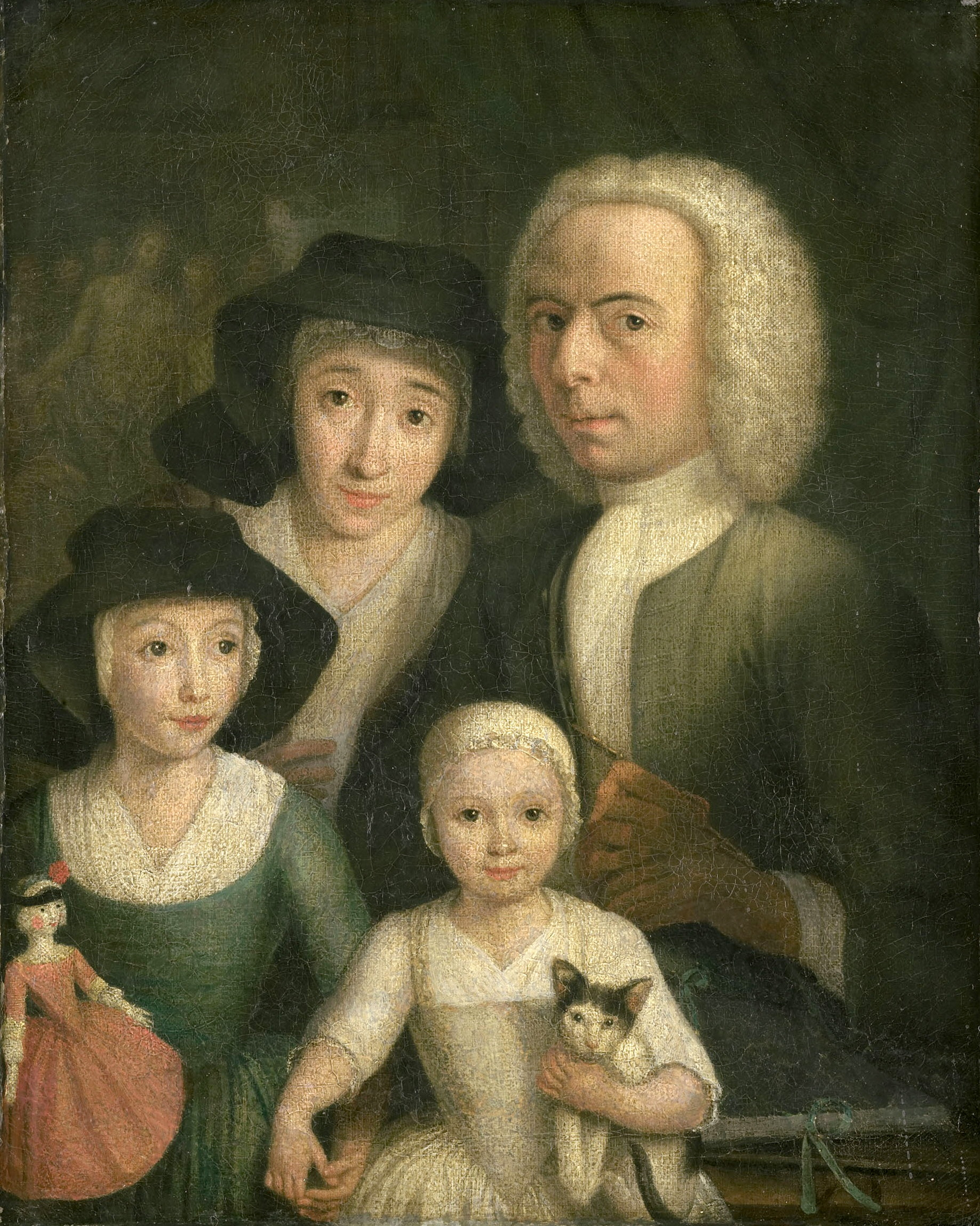 Selfportrait with Family by Hendrik Spilman ~1760