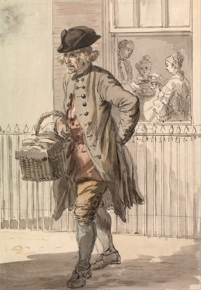 London Cries - A Muffin Man_Paul Sandby(1730-1809)_~1759