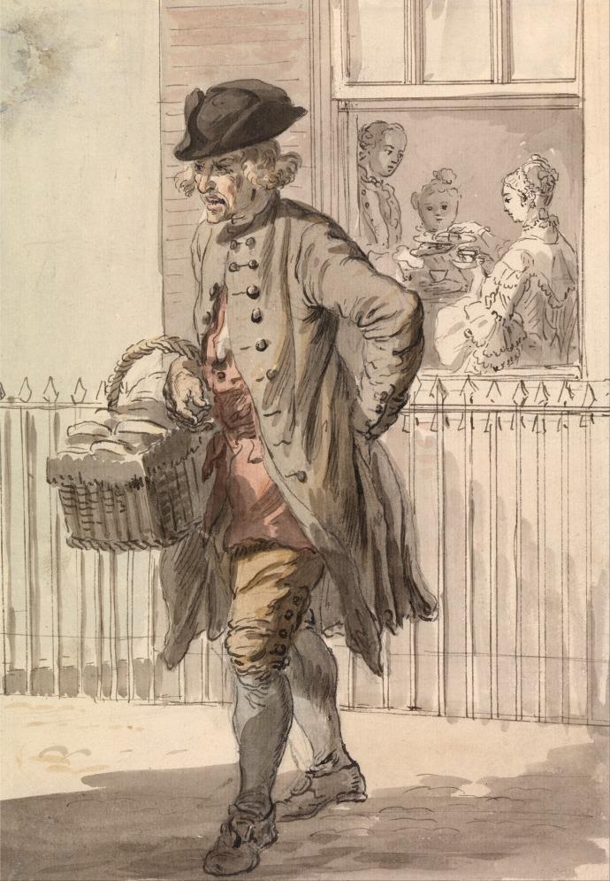 London Cries - A Muffin Man_Paul Sandby(1730-1809)_~1759