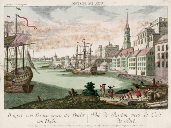 View of Boston Harbor_Franz Xaver Habermann(1721-1796)_1770